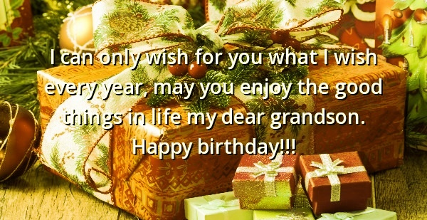 Granson Birthday Wishes And Quotes