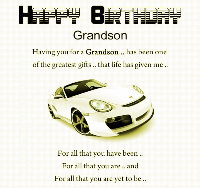 Grandson Birthday Verses Card Verses Greetings And Wishes