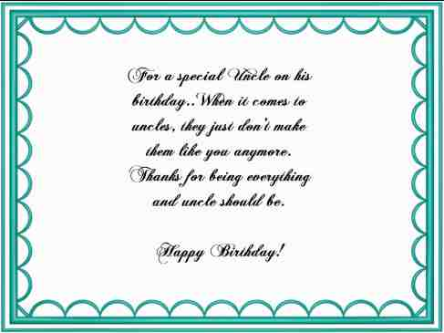 Uncle Birthday Verses Card Verses Greetings And Wishes