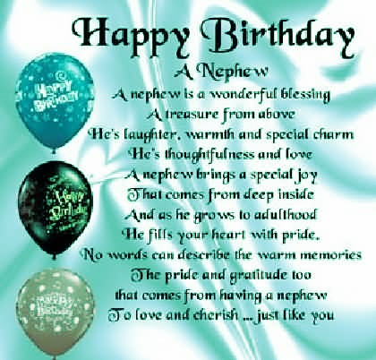 Nephew Backgrounds And Birthday Wishes Quotes