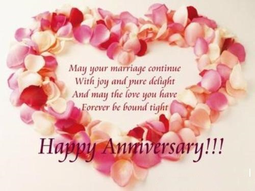 General wedding anniversary verses card verses greetings and wishes